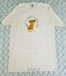 Vintage 90s Disney Channel Lion King Simba T Shirt Movie Promo Large