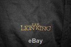 Vintage 90s Disney The Lion King Black Letterman Flight Bomber Jacket Size Large