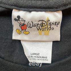Vintage 90s Disney Villains T-shirt Mens Large Aladdin Lion King Hook Cruella