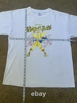 Vintage 90s Disneys Hercules Movie Promo T-Shirt XL Lion King Rap Tee Aladdin