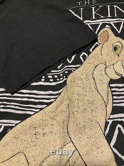 Vintage 90s LION KING Nala Single Stitch T Shirt OSFA Disney Movie Promo Rare