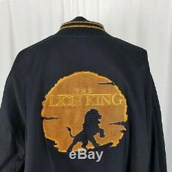 Vintage'94 Disney The Lion King Patch Canvas Bomber Letterman Jacket Mens XL