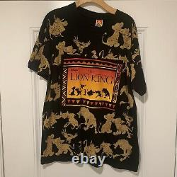 Vintage Disney 90s Lion King Rare Big Print Single Stitched Shirt Sz XL VTG HTF