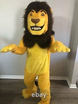 Vintage Disney Lion King Adult Simba Mascot Costume with Tail