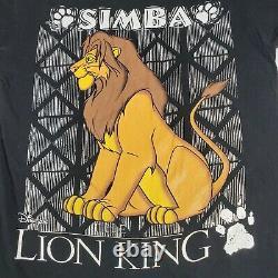 Vintage Disney Lion King Simba T-Shirt 90s Size XL Single Stitch Movie Promo