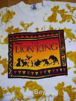 Vintage Disney The Lion King All Over Print Promo White Tee OSFA 90s VTG RARE