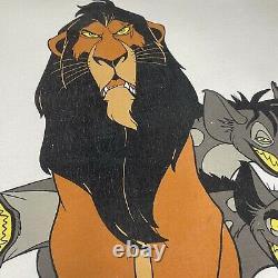 Vintage Disney The Lion King Scar Hyenas Ed Shirt Xl Toy Story Aladdin Designs