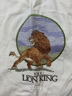Vintage Disney's The Lion King EMBROIDERED Shirt Mens XL Simba Made In USA