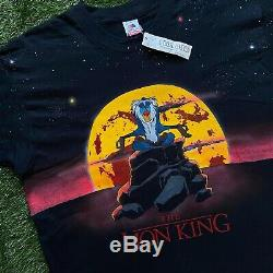 Vintage Lion King All Over Print Shirt BRAND NEW WITH TAGS Promo large Hand Made