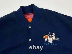 Vintage Lion King Jacket 90s Walt Disney Simba Scar Rafiki Suede Wool R4