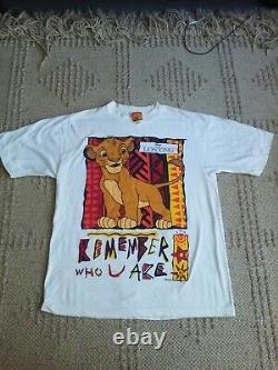 Vintage Lion King Shirt Disney Simba Remember Who U Are 90s rare