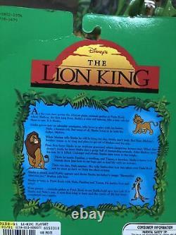 Vintage Mattel Disney's Lion King Action Figure Set 1994 Simba + Pride Rock New