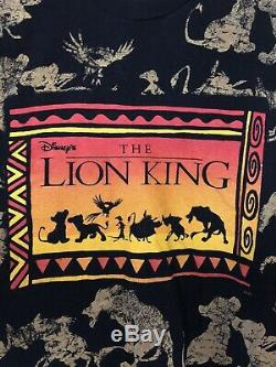 Vintage The Lion King Movie Film T-Shirt Tee Disney FLAWLESS OSFA fits Like A XL