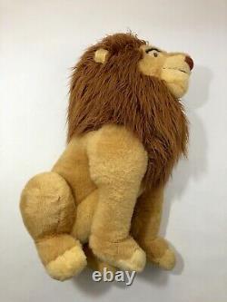 Vintage The Lion King Mufasa Simba 30 Jumbo Huge Lion Plush Disney Store