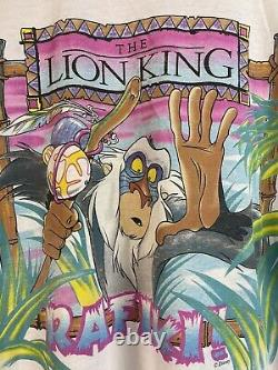 Vtg 90s Disney Lion King Rafiki movie cartoon simba scar mufasa africa shirt xl