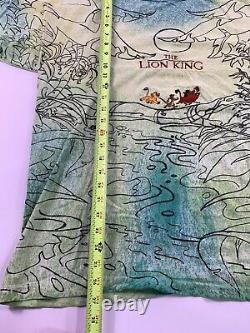 Vtg 90s The Lion King Movie T Shirt Simba Nala Disney Size Large XL Embroidered