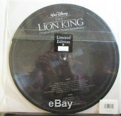 WALT DISNEY THE LION KING Soundtrack VINYL LP PICTURE DISC #193 SEALED USA