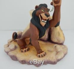 WDCC From Disney Movie Lion King Scar Life's Not Fair, It It withCOA & Box 88