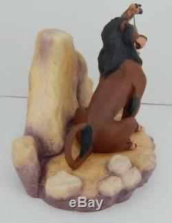 WDCC From Disney Movie Lion King Scar Life's Not Fair, It It withCOA & Box 88 a