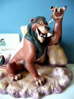 WDCC Life's Not Fair, Is It Scar Disney The Lion King iwith COA VILLAIN LION