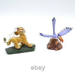 WDCC The Lion King 3 Figurines Luau! Timon Hakuna Matata Simba Major Domo Zazu
