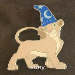 WDI Disney Imagineering Sorcerer Lion King Framed Pin Set LE 200 AP Simba Nala