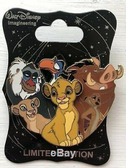 WDI Disney Pin Cluster Lion King LE 250 MOG Cast Exclusive
