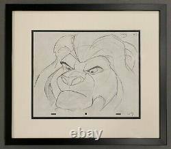 Walt Disney Animation Art Production Drawing of Mufasa from The Lion King