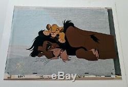 Walt Disney Animation LION KING SCAR SIMBA HAND PAINTED LE CEL #44/175