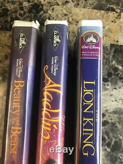 Walt Disney Black Diamond Beauty And Beast, Black Diamond Aladdin And Lion King
