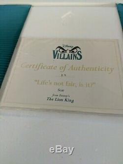 Walt Disney Classics Collection Wdcc Lion King Scar Life's Not Fair, Is It
