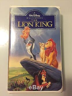 Walt Disney Lion King Vhs 1995 -masterpiece Collection (us Pat Pending Case)