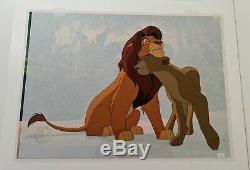 Walt Disney THE LION KING Simba Nala HAND PAINTED LIMITED EDITION CEL #70/188