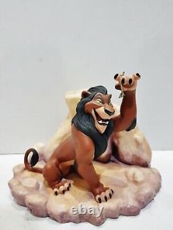 Wdcc Lion King Scar Life's Not Fair, Is It + Box & Coa Disney Rare Figure