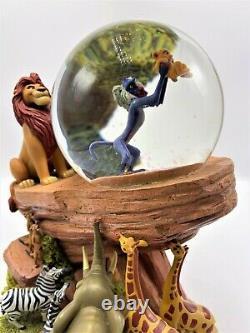 1994 Disney Lion King Pride Rock Circle Of Life Globe De Neige Animé Musical