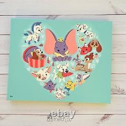 2021 Disney Park Caley Hicks Cutest Kingdom Le Canvas Aristocats Dumbo Lady 3/95