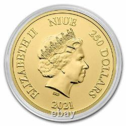 2021 Niue 1 Oz D'or 250 $ Disney Lion King Hakuna Matata Bu Sku#235413