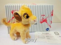 355363 Simba Disney Lion King Mohair, Édition Limitée, Boîte De 24 CM Par Steiff