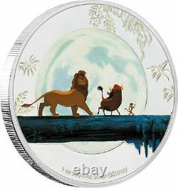 4 Coin Set 2019 Niue Nouvelle-zélande Disney. 999 Roi Lion D'argent 25e Anniversaire