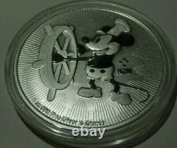 4 Disney Silver Coins 4 Oz Total Mickey, Steamboat Willie, Scrooge, Lion King