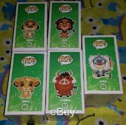 5 Voûté Funko Pop Disney Le Roi Lion Rafiki Scar Simba Timon Pumbaa