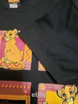 90 Vintage 1994 Disney Le Roi Lion Film Promo T-shirt L Simba Point Unique