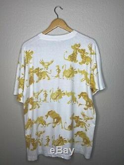 90 Vintage Disney Roi Lion Partout Imprimer La Promo De Film De T-shirt XL