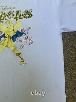 90 Vintage Hercules Disneys Film Promo T-shirt XL Roi Lion Rap T Aladdin