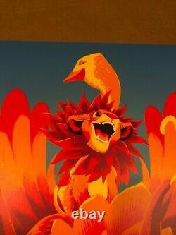 Affiche D'art De Lion King Rare Variante Affiche 2017 (x/200) Matt Taylor Disney D23