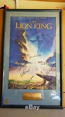 Affiche Rare Et Autographiée Du Roi Lion Disney, James Earl Jones, Matthew Broderick