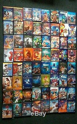 Aladdin Coco Beauty & Beast Toy Story Trilogy Roi Lion 108 DVD Disney Bundle R2