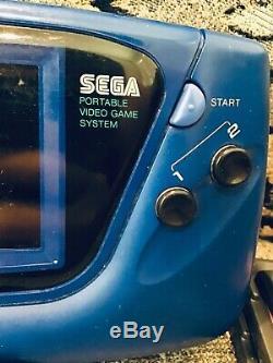 Bleu Sega Game Gear Console Portable Vtg Cartouche De Jeu Sonic Disney Le Roi Lion