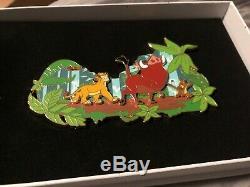 Bnwb Disney Le Roi Lion Disneyland Paris Jumbo Pin Rare Le 400 Simba Timon Pumba