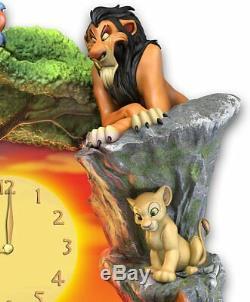 Bradford Exchange Disney Le Roi Lion Hakuna Matata Horloge Murale Avec Des Lumières De Musique